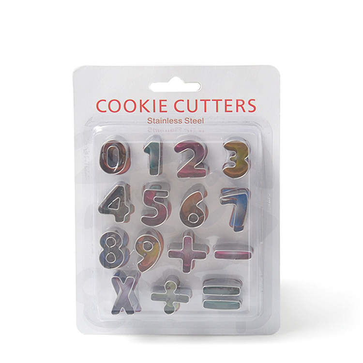 Elyon Tableware, 15 Piece Miniature Number Cookie Cutters, Stainless Steel