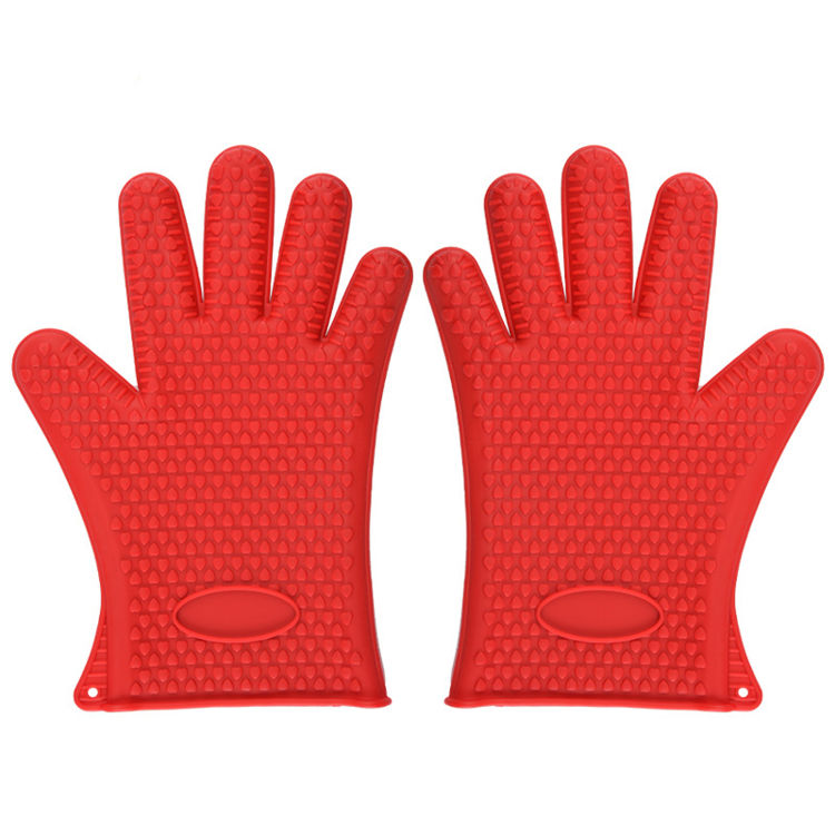 Elyon Tableware, 2 Silicone Oven Gloves, Red