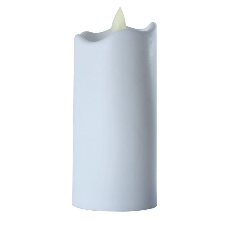 LED Flameless Tall Pillar Flicker Candles, 12 Pack, White