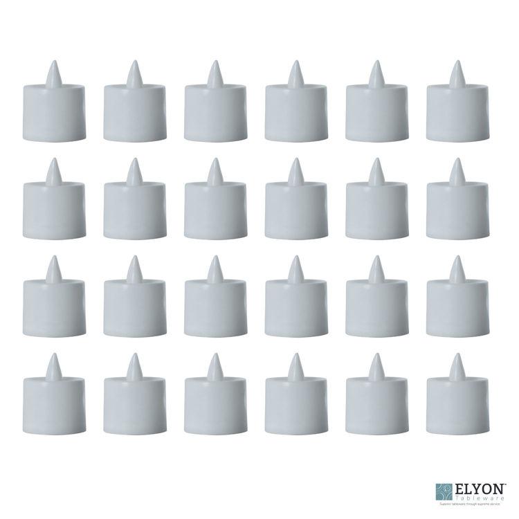 LED Flameless Tea Light Candles, 24 Pack, White -pack