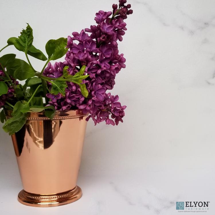 Godinger Copper Beaded Vase - flowers