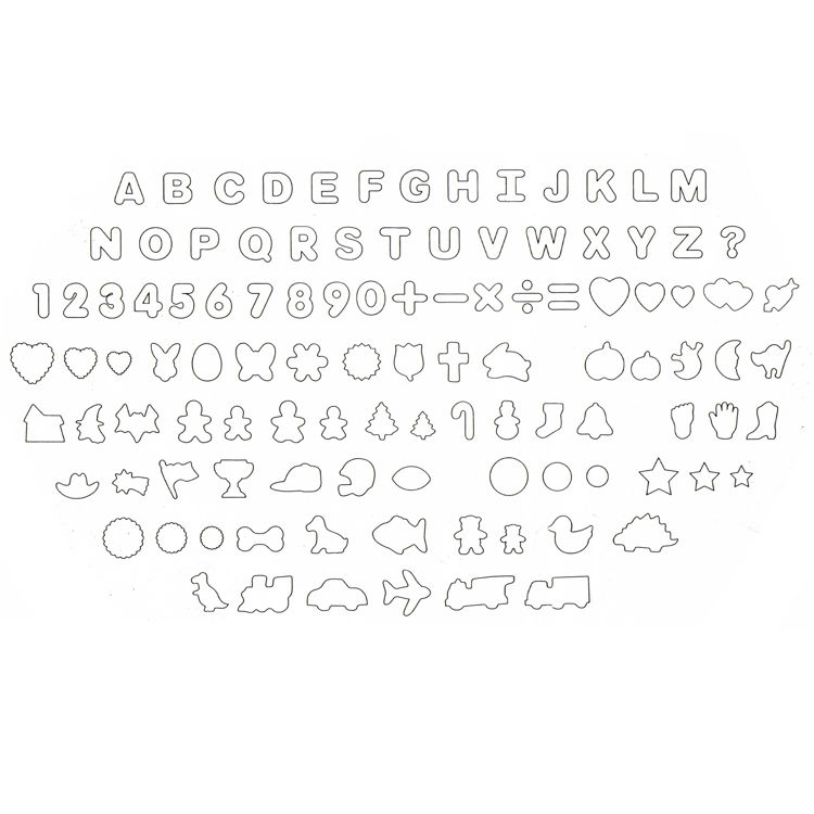 Elyon Tableware, 108 Piece Assorted Cookie Cutters, Plastic