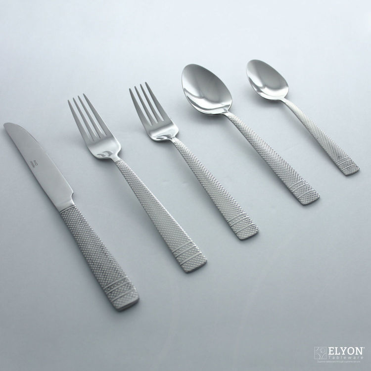 Metropolitan 20-Piece Stainless Steel File Flatware Set, Service for 4 | Elyon Tableware