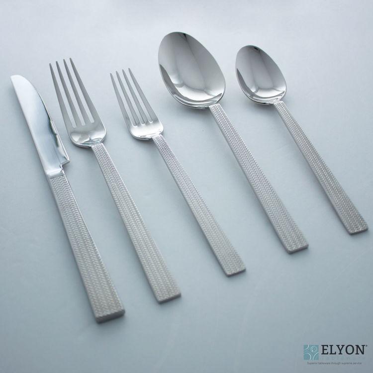 David Shaw 20-Piece Stainless Steel Splendide Rhone Flatware Set, Service For 4 | Elyon Tableware