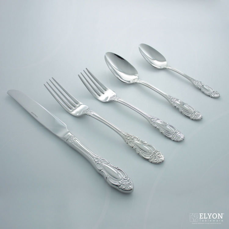 Wallace 65-Piece Stainless Steel Duchess Flatware Set, Service For 12 | Elyon Tableware