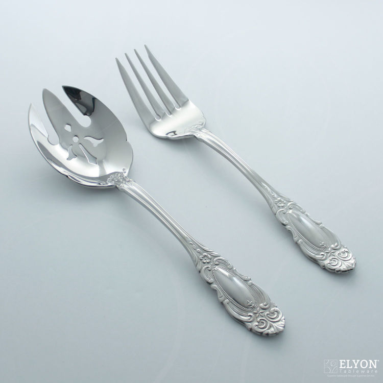 Wallace 65-Piece Stainless Steel Duchess Flatware Set, Service For 12 - Serving Set | Elyon Tableware