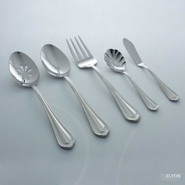 Mikasa 65-Piece Stainless Steel Regent Bead Flatware Set, Service For 12 |  Elyon Tableware