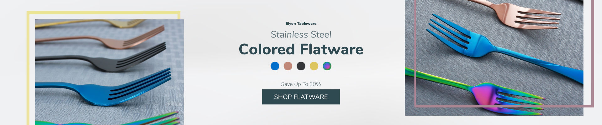 Colored Stainless Steel Flatware Sale