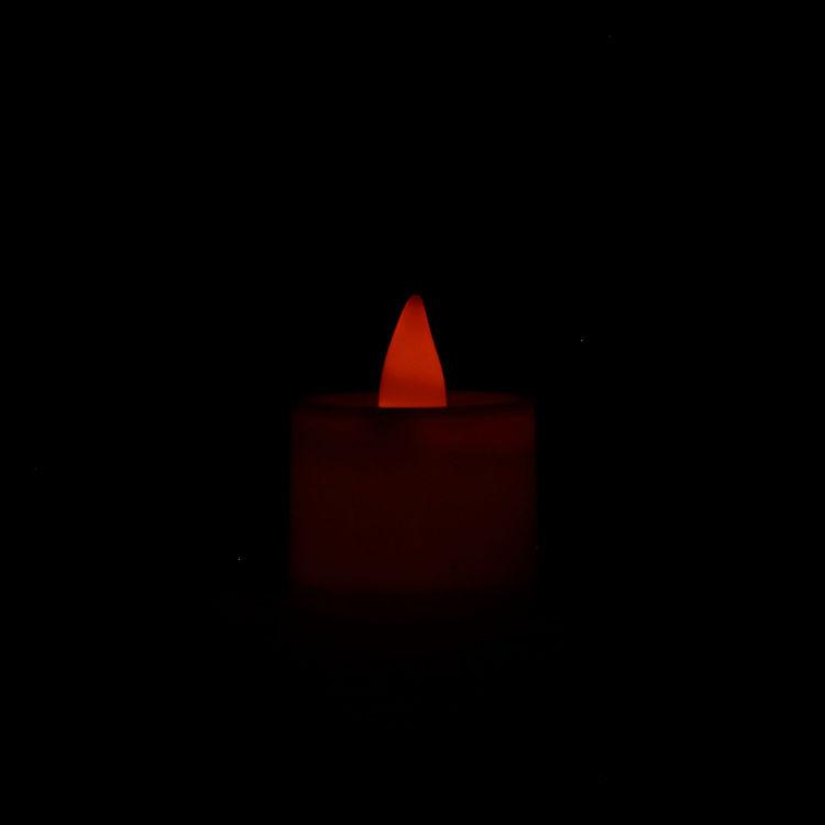 Lit LED Flameless Tea Light Candles
