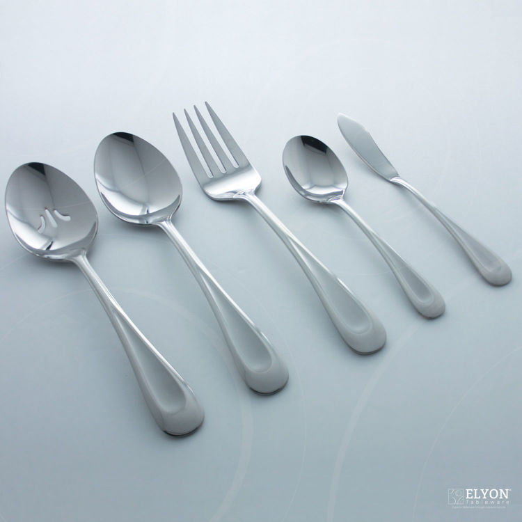 Oneida 45-Piece Stainless Steel Silver Satin Sand Dune Flatware Set, Service For 8 | Elyon Tableware