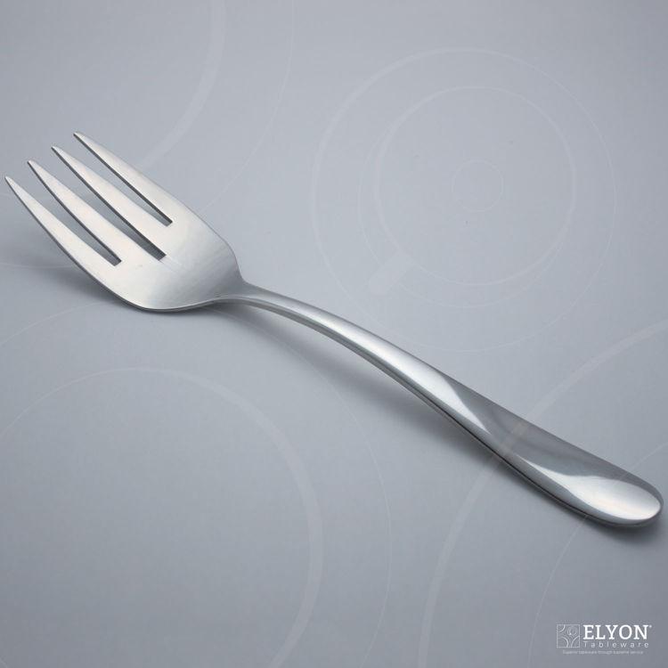 Splendide Alpia Serving Fork Stainless Steel, 1 Piece Serving Set | Elyon Tableware