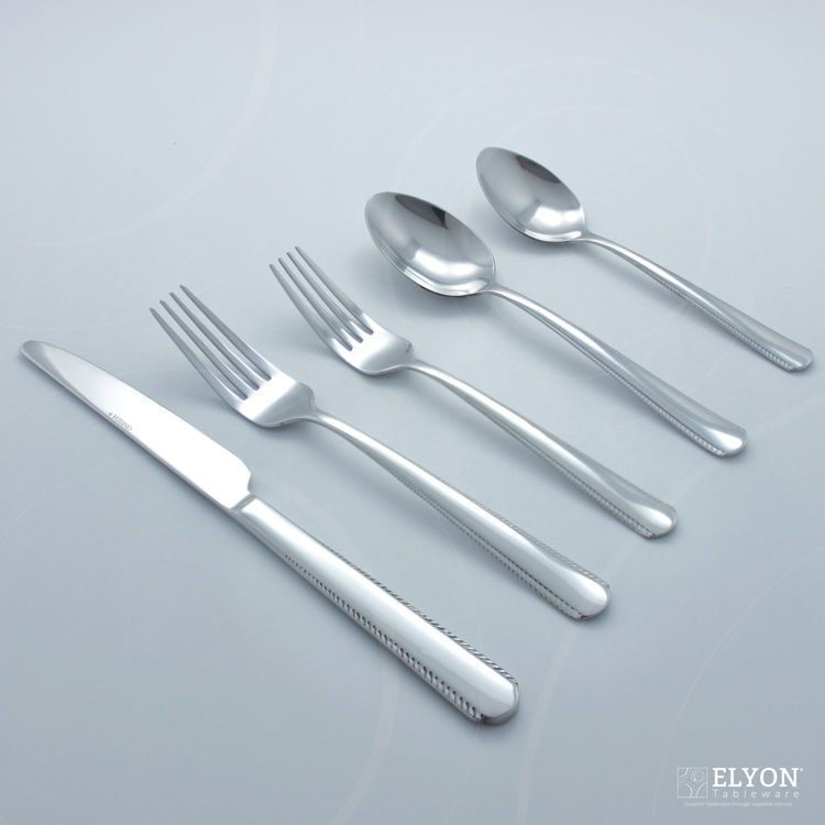 Oneida 42-Piece Stainless Steel Silver Gable Flatware Set, Service For 8 | Elyon Tableware