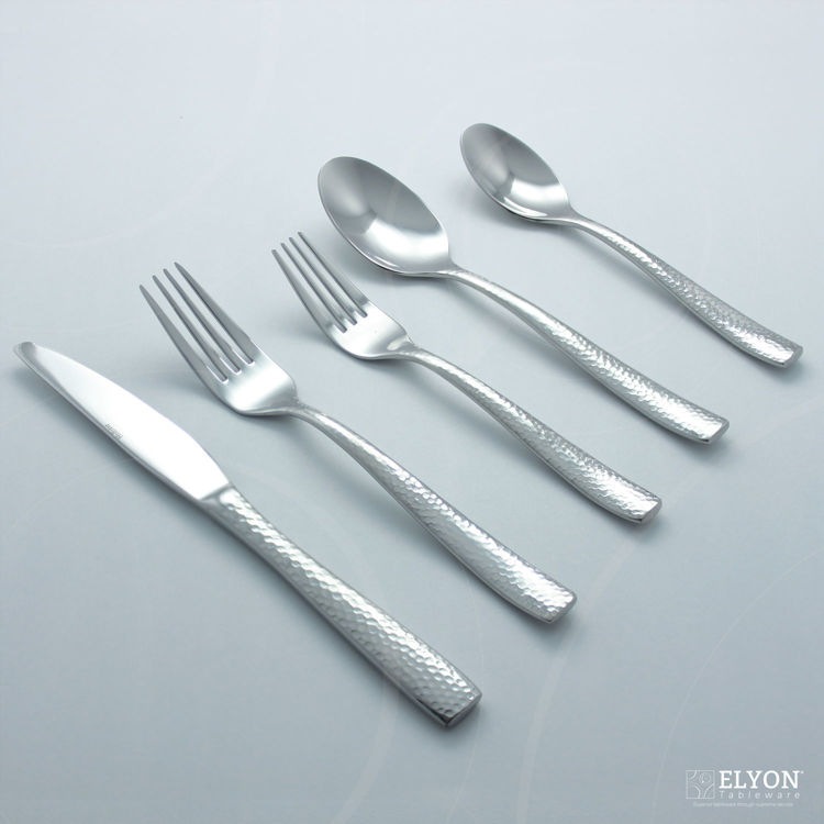 Museum 20-Piece Stainless Steel Vital Flatware Set, Service for 4 | Elyon Tableware