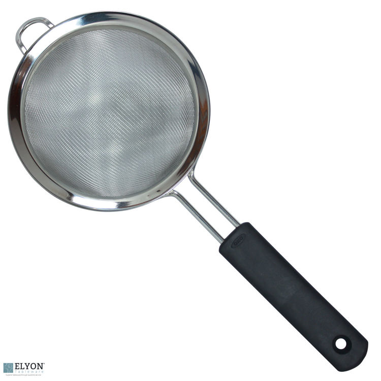 "Oxo 6"" Double Rod Stainless Steel Strainer With Rubber Handle 