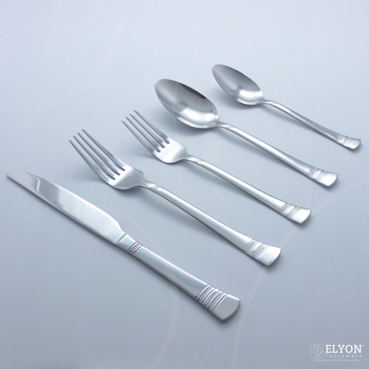 Pfaltzgraff 20-Piece Stainless Steel Sapphire Bay Flatware Set, Service For 4 | Elyon Tableware