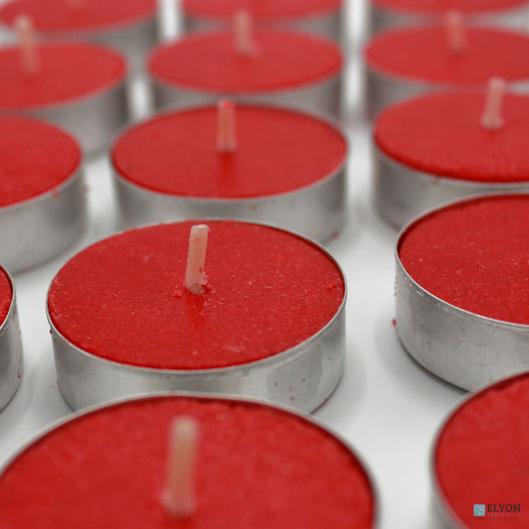 96 Apple Cinnamon Scented Red Wax Tealight Candles