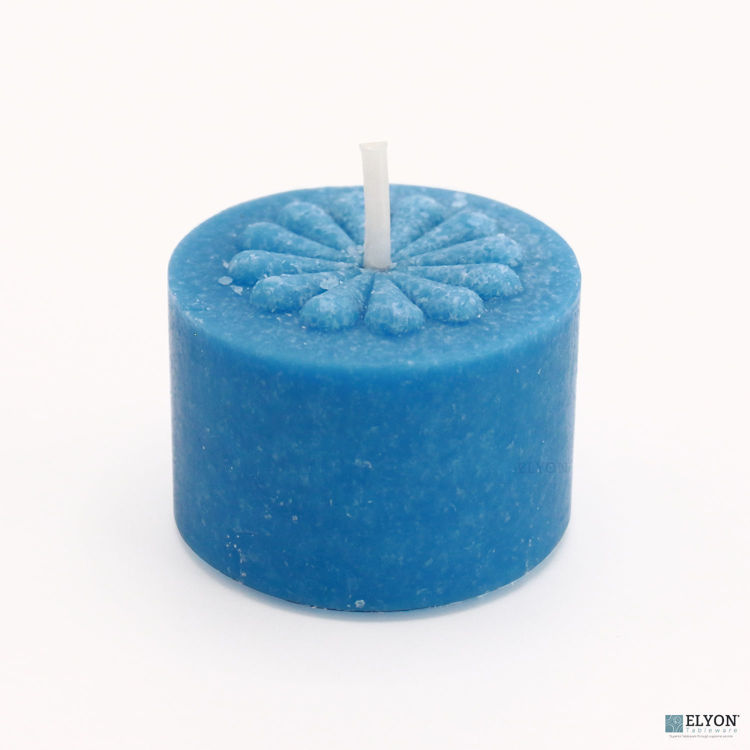 36 Ocean Breeze Scented Blue Colored Wax Deep Tealight Candles