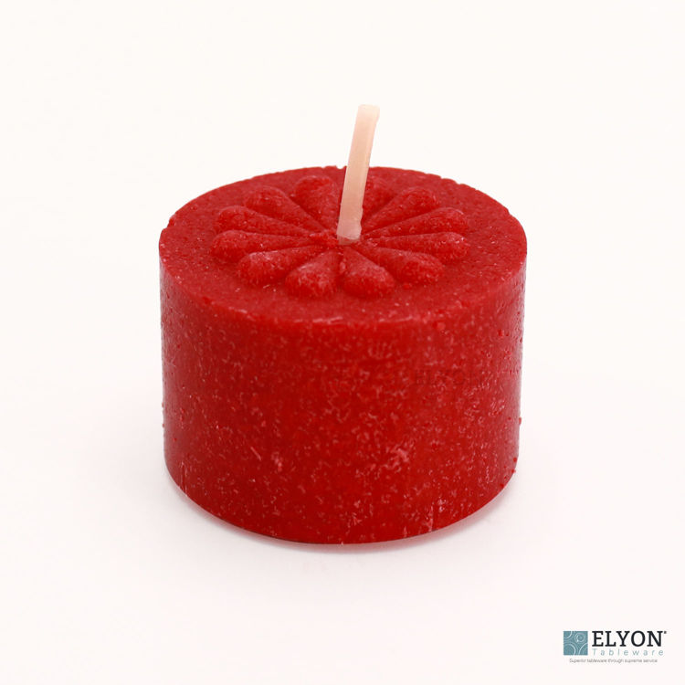 36 Apple Cinnamon Scented Red Colored Wax Deep Tealight Candles
