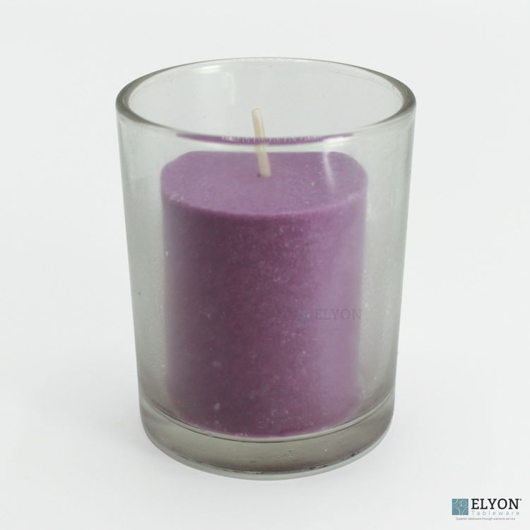 18 Purple Colored Unscented Wax Votive Memorial Candle, 24 Hours Burn Time