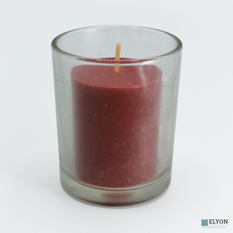 18 Red Colored Unscented Wax Votive Memorial Candle, 24 Hours Burn Time