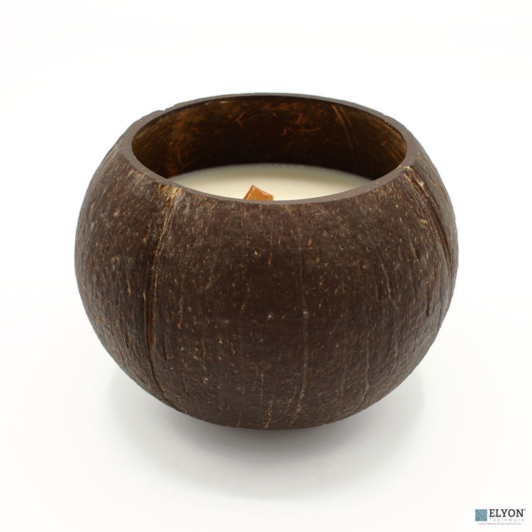 Coconut Shell Candle Scented Set of 2