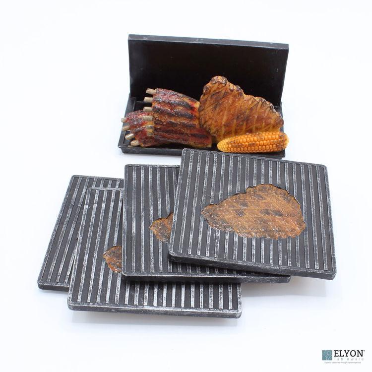 BBQ Steak Coaster Set