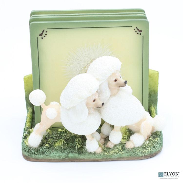 Poodle Coaster Set