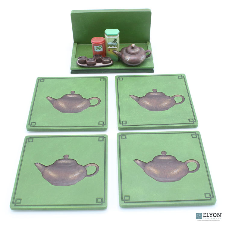 Teapot Coaster Set